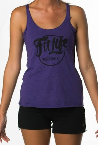 Fit Life Tri- Blend Racerback Tank In Purple