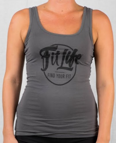 Fit Life Racerback Tank Offers A Slim Fit And A Longer Body In Charcoal